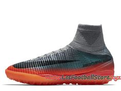 huge discount 1b300 9f4d5 Nike MercurialX Proximo II CR7 TF Chaussure de football Pas Cher Pour Homme  Orange Bleu 878648 001