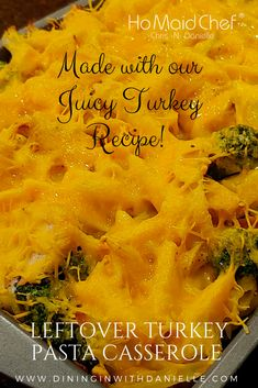 Leftover Turkey Pasta Casserole is an Easy Casserole Meal made with our Juicy Turkey Recipe! Pasta, Broccoli, Sour Cream and Juicy Turkey then Smothered in Cheddar Cheese! #dininginwithdanielle #chrisdoeswhat #homaidchef #leftoverturkey #leftoverturkeycasserole #pastacasserole #pasta #cheesypasta #comfortfood #broccoliturkeypasta #casseroles #easymeals #onepanmeal @ChrisDanielleRedding @chrisdoeswhat
