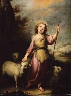 The Young Christ as the Good Shepherd  Bartolome Esteban Murillo