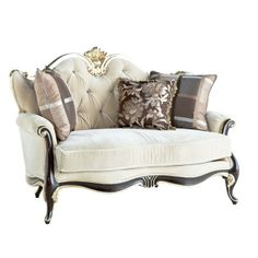 Picture this  sofa in all the most beautiful homes. It transforms a beautiful living room in to a stunning one. Every home is transformed with this gorgeous love seat. Its elegant wooden details makes it even more stunning.   Details:  202 L x128 W x 85 H.... picture in it your home too! ...Love SJM