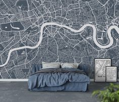 London city map Tapet