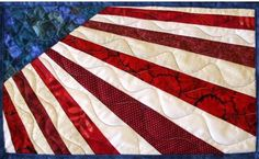Radiating Americana Placemat Pattern - The Virginia Quilter