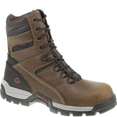"W10307 Wolverine Men's Tarmac WP 8"" Safety Boots - Brown"