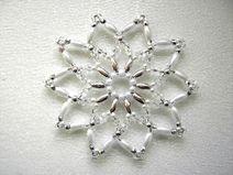 Perlenstern weiß/silber 8 cm