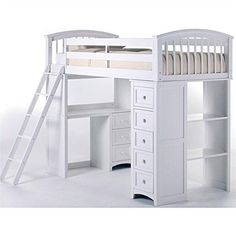 Kids School House Student Loft Bed in White Custom Bunk Beds, Loft, Furniture, Home Decor, Homemade Home Decor, Lofts, Home Furniture, Attic, Interior Design