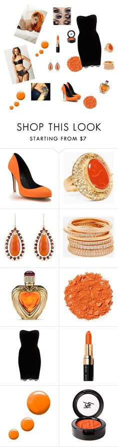 """preto e laranja (sexy)"" by daianetavares310 on Polyvore featuring moda, Shoes of Prey, Chico's, Arya Esha, Henri Bendel, Victoria's Secret, Illamasqua, River Island, Bobbi Brown Cosmetics e Topshop"
