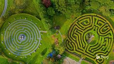Beannachtaí ó Greenan Maze in Ireland! (That first part is 'Greetings from' in traditional Irish.) This family farm in Greenan, a small. Bing Backgrounds, Fairy Tree, Fun Days Out, Sea To Shining Sea, Garden Park, Irish Traditions, Puzzle Art, World Photography, Environmental Art