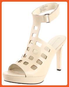 Rockport Women's Janae Square Perforated Sandal,Cream,5.5 M US - Sandals for women (*Amazon Partner-Link)