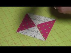 """My son Jeff helped me film this very """"organic"""" and unedited tutorial for using my new Essential Triangle Tool for half square triangles, quarter square trian. Quilting Tools, Quilting Rulers, Quilting Tutorials, Hand Quilting, Half Square Triangle Quilts, Bonnie Hunter, Sewing Hacks, Sewing Tips, Scrappy Quilts"""