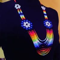 Native Embera Indian Beaded Necklace from Latin America Beaded Necklace made by Embera Indians This item was handmade by . Crochet Necklace, Beaded Necklace, Collars, Beads, Bracelets, Earrings, Crafts, Beautiful, Jewelry