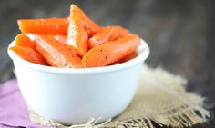 Zanahorias confitadas, un aperitivo muy dulce