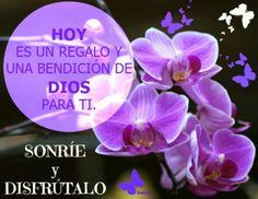 HOY es un regalo y una BENDICIÓN DE DIOS para ti.   SONRÍE y DISFRUTALO!!!