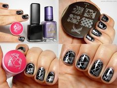 Base: BYS - Matte Black Pattern: m64, Barry M - Lilac Foil
