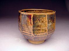 MARK ZAMANTAKIS (1926-) faceted tenmoku chawan COLORADO pottery bIN StunnER