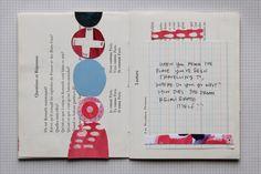 Katie licht, season of dreams artist book art journal #collage