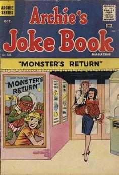 Archie's Joke Book 58 Artist unknown? Vintage Comic Books, Vintage Comics, Comic Books Art, Book Art, Jughead Comics, Archie Betty And Veronica, Archie Comics Characters, Archie Comics Riverdale, Francois Truffaut