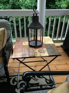 Wine Crate Top w/Steel Frame End Table by SteelCreekFAB on Etsy, $185.00