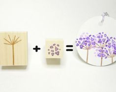 Cherry blossom Rubber stamp Spring flower by JapaneseRubberStamps