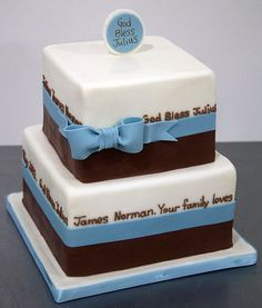 Ideas for confirmation cakes Dedication Cake, Cake Toronto, Religious Cakes, Confirmation Cakes, First Communion Cakes, Cake Tutorial, Shower Cakes, How To Make Cake, Cake Designs