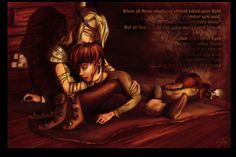 This scene was made in deviantart inhonoredglory. But this scene is from How To Train Your Dragon II: The Dragon Whisperer on Fanfiction.net.