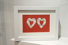 Musical Hearts Framed Picture  £12.00