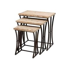 Reclaimed Wood Nesting Tables