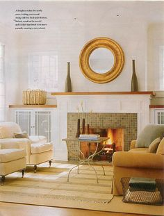 idea for how to re-do fireplace in family room  Source: Better Homes and Gardens Special Interest Publications  Additions Fall/Winter 2008