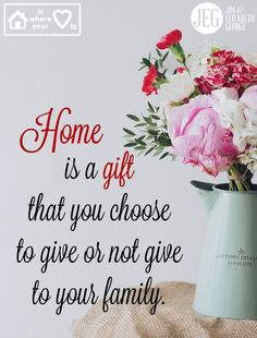 """Making a home is a sacrifice. It's a sacrifice to get out of bed in the morning or off your couch in the evening and get the work of home done. But homemaking is our chance to nurture our families with the good things of God, healthy meals, and a peaceful, organized home. From """"A Woman's High Calling"""" - http://jegeorge.co/1T0D8xh."""