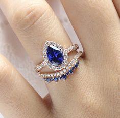 Rose Gold Engagement Ring, Engagement Ring Settings, Beautiful Engagement Rings, Matching Wedding Bands, Diamond Wedding Bands, September Birthstone Rings, Wedding Jewelry, Wedding Rings, Bridal Ring Sets