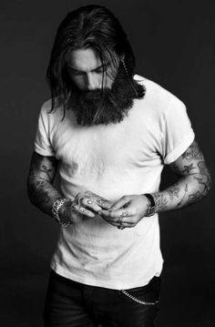 long hair,beard