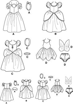 Simplicity 5402 - Disney Princess costumes