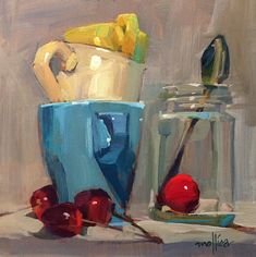 Still LIfe Summary Block — Paintings By Patti Mollica Block Painting, Fruit Painting, Light Painting, Still Life Drawing, Painting Still Life, Still Life Art, Christmas Reflections, Coffee Cup Art, Art Alevel