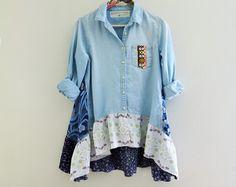 denim shirt upcycle