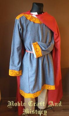 Carolingian set with embroidery from Noble Craft and History Facebook page.  Need more research on this item.