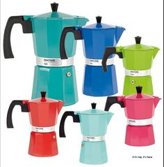 Add a dash of color to your mornings with these adorable Pantone-themed Italian coffee makers. >> https://www.finedininglovers.com/blog/curious-bites/pantone-italian-coffee-pots/