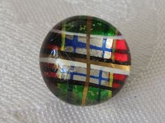 ANTIQUE Multi Color Plaid Clear Glass Kaleidoscope by abandc, $16.95