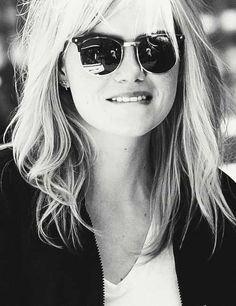 Emma Stone wearing the RayBan. Recently nominated in 2015 Oscars #sunglasses
