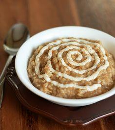 Cinnamon Roll Oatmeal, turn an oatmeal hater into an oatmeal lover with this oatmeal!  Tastes just like a cinnamon roll!