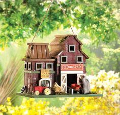 Birdhouse Farm Silo Tractor Country Barn Ranch Western Barnyard $19