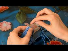Закрытие полой резинки иглой (Обшитый край) - YouTube