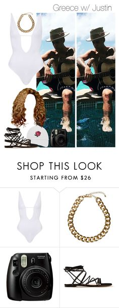 """- DLXXVII (J.B)"" by zarina-fashion ❤ liked on Polyvore featuring Justin Bieber, Topshop, Club Manhattan, Fujifilm and Gianvito Rossi"
