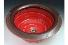 Indikoi MOD308 Modern17.5 Inch Red Vessel or self-rimming Mount Sink