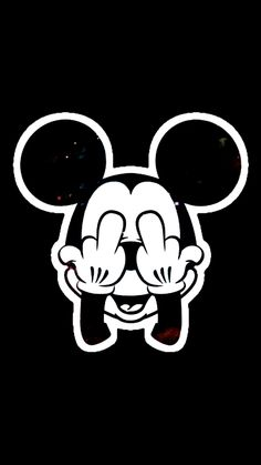 Middlefinger Supreme Mickeymouse Mickey Mouse Wallpaperiphone