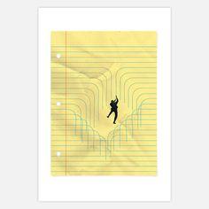 Between the Lines 13x19  by Daniel Horowitz Studio