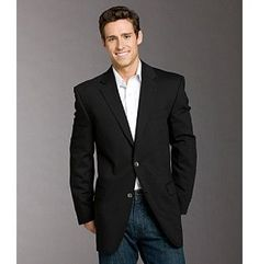 Calvin Klein Men's Blazer - Black at www.carsons.com