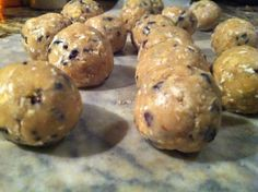 PB Chocolate Chip Cheesecake Protein Cookie Dough/Balls