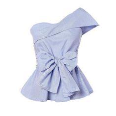 Shop Foldover One Shoulder Bow Front Peplum Top online. SheIn offers Foldover One Shoulder Bow Front Peplum Top & more to fit your fashionable needs. Peplum Tops, Pop Fashion, Fashion 2020, Fashion Outfits, Woman Fashion, Ladies Fashion, Women Bow Tie, Batik, Chiffon