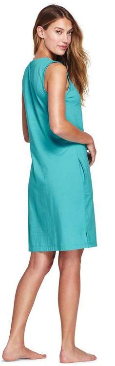 183293698f Lands' End Lands'end Women's Cotton Embellished Tunic Dress Cover-up #Cotton