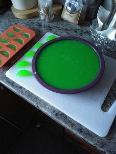 Preparación de la tarta de sandía