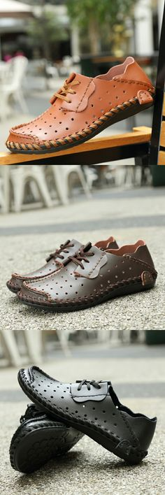 Amazon Men's Leather Breathable Shoes